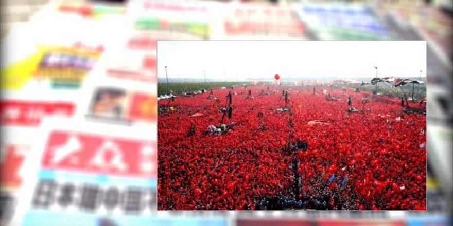 """""""Demokrasi Ve Şehitler Mitingi"""" Uzak Doğu Basınında Geniş Yer Buldu"""