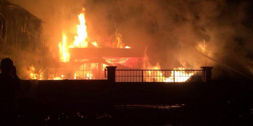 Konya'da 2 ayrı yangın VİDEO