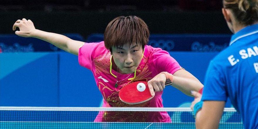 Masa Tenisinde Altın Madalya Çinli Ding'in