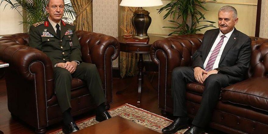 Başbakan Yıldırım Genelkurmay Başkanı Akar'ı Kabul Etti