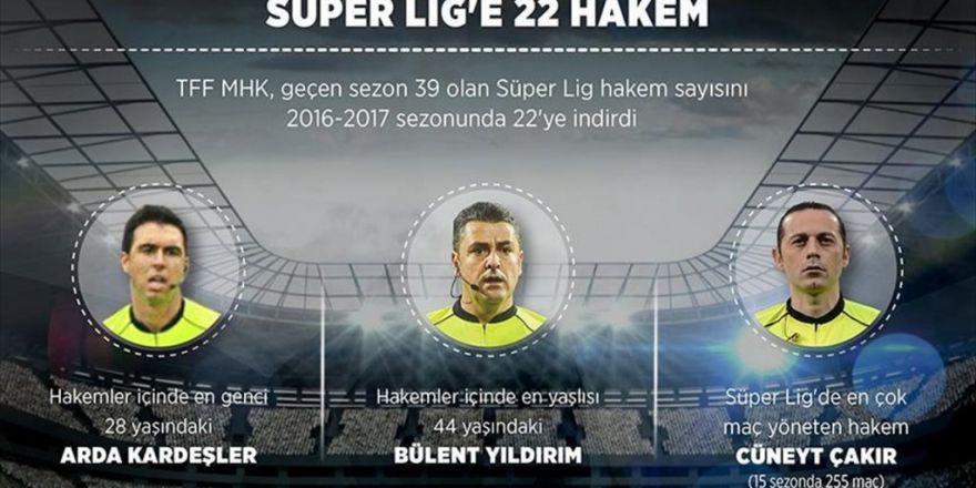 Süper Lig'e 22 Hakem