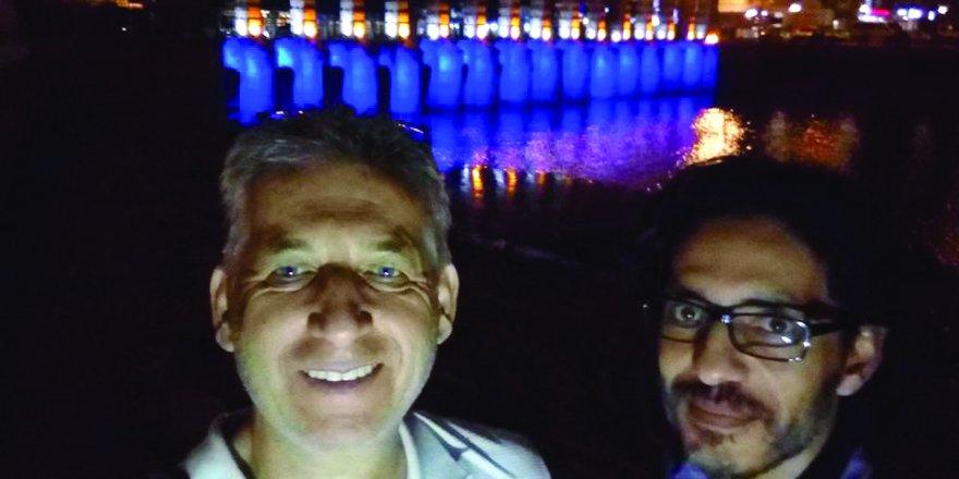 Dr. Muzaffer Temel Hakan Bahçeci ile tarihi köprüde