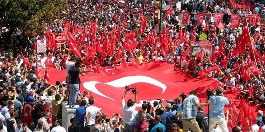 Güneydoğu Ve Doğu'da Terörü Protesto Yürüyüşleri Yapıldı