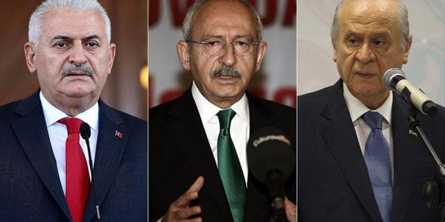 Başbakan Yıldırım, Kılıçdaroğlu Ve Bahçeli İle Bir Araya Gelecek