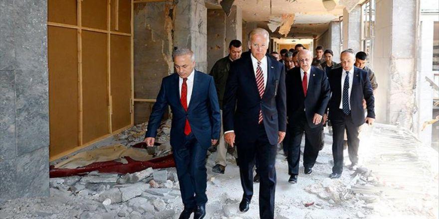 Abd Başkan Yardımcısı Biden, Darbe Girişimi Sırasında Bombalanan Tbmm'yi Ziyaret Etti