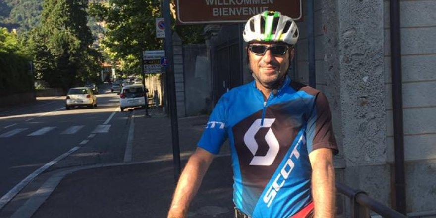 Hukukçu Cengiz Yönet bisikleti ile İtalya-İsveç hattında