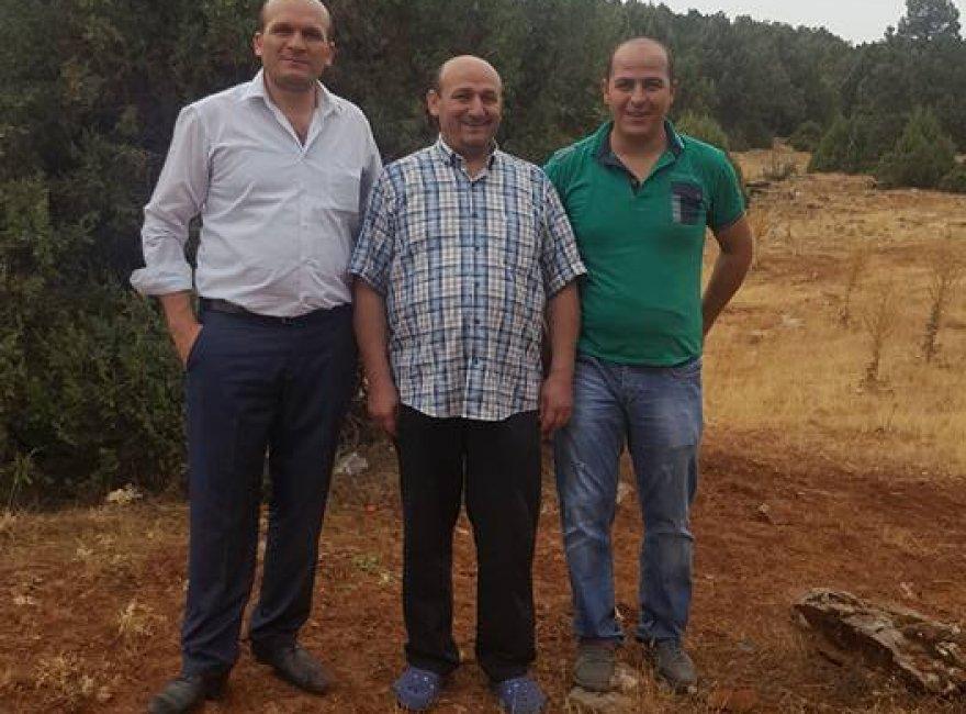 Adem Seren ve dostları Alan köyündeler