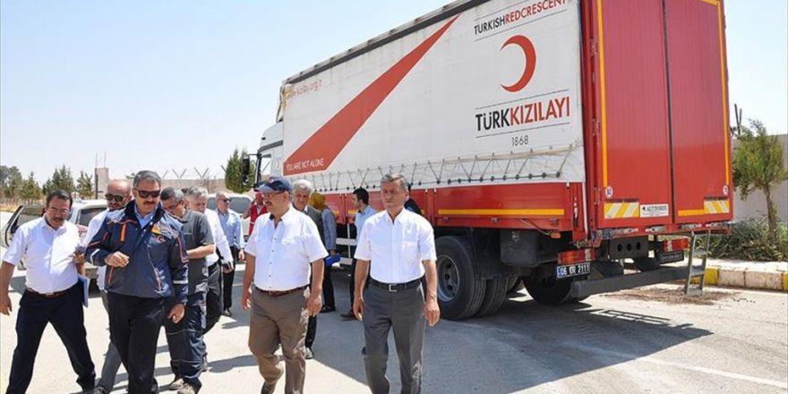 Türk Kızılayı'nın Cerablus'a Yardımları Sürüyor