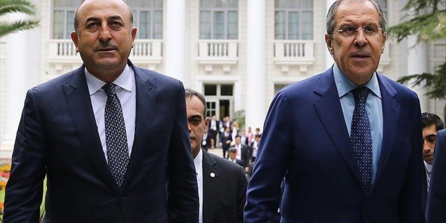 Bakan Çavuşoğlu İle Lavrov 'Fırat Kalkanı'nı Konuştu