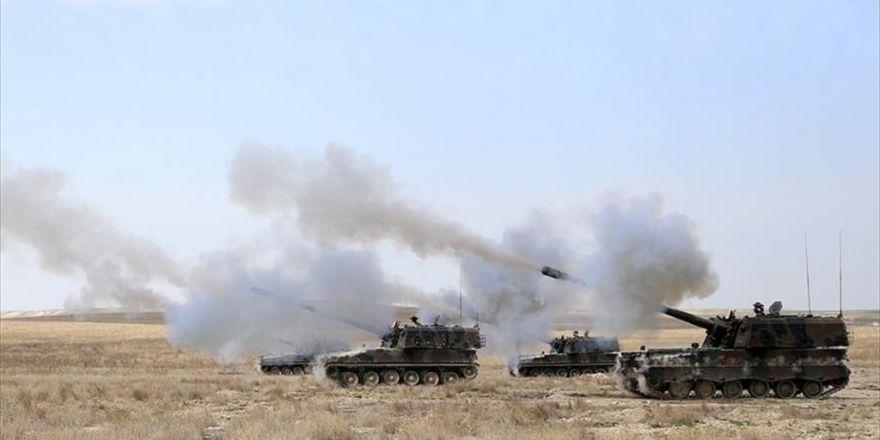Fırat Kalkanı Harekatı'nda Terörist Hedefler Vuruldu