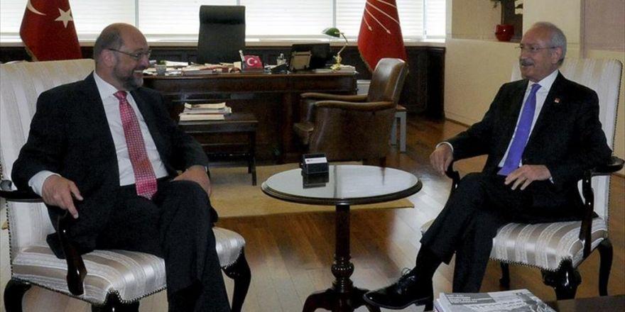 Kılıçdaroğlu Ap Başkanı Schulz İle Görüştü