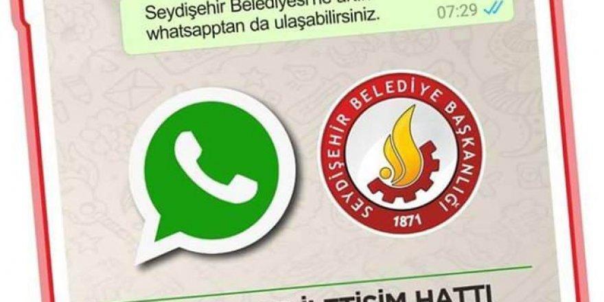"""Seydişehir Belediyesi'nden """"whatsapp iletişim hattı'' hizmeti"""