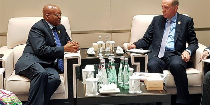 Cumhurbaşkanı Erdoğan, Güney Afrika Devlet Başkanı Zuma İle Görüştü