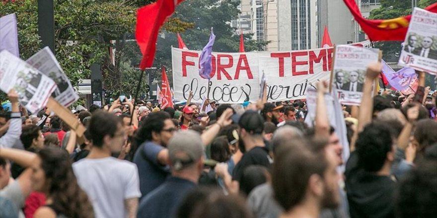 Brezilya'da Temer'in Başkanlığa Getirilmesi Protesto Edildi