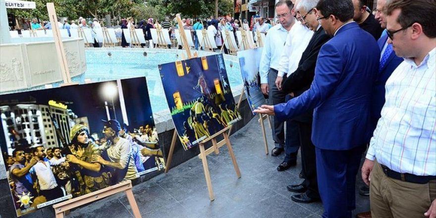 Manisa'da '15 Temmuz Milli İradenin Yükselişi' Fotoğraf Sergisi Açıldı