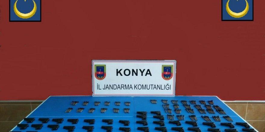 Konya'da  tabanca operasyonu