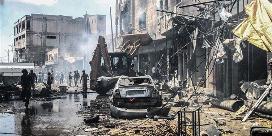 Esed Rejimi İdlib'de Çarşıyı Bombaladı: 28 Ölü, 41 Yaralı