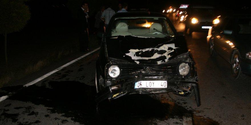 Otomobil elektrikli bisiklete çarptı: 2 ölü, 2 yaralı
