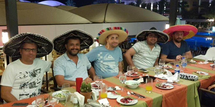 Genç iş adamlarımız Meksika gecesinde