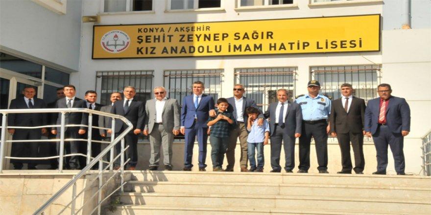 Şehidin ismi Konya'daki devlete geçen özel okula verildi