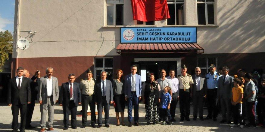 Şehit Coşkun Karabulut'un adı yeni açılan ortaokulda yaşayacak