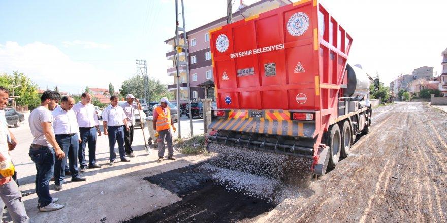 Beyşehir Belediyesi'nden asfalt seferberliği