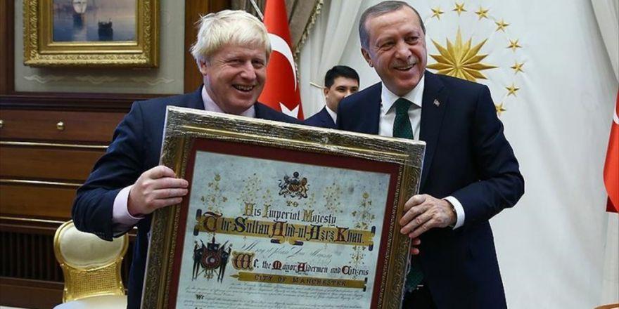 Erdoğan Ve  Yıldırım Johnson'ı Kabul Etti