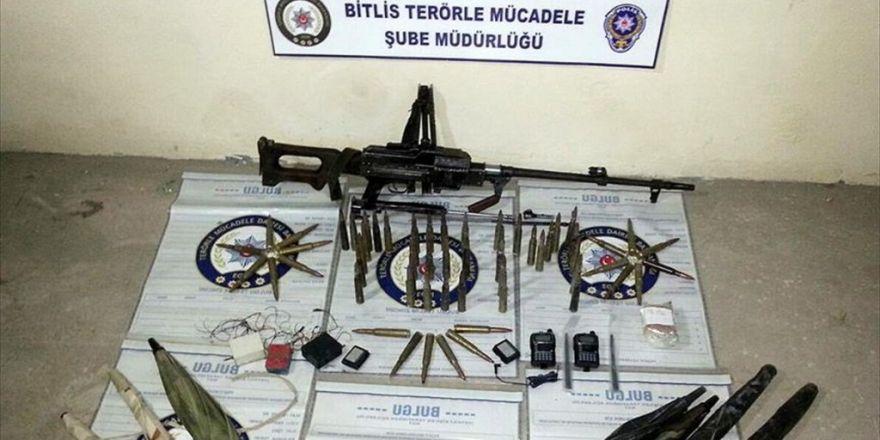 Bitlis'te Pkk'nın Dağ Kadrosuna Götürülen Silah Ve Mühimmat Ele Geçirildi