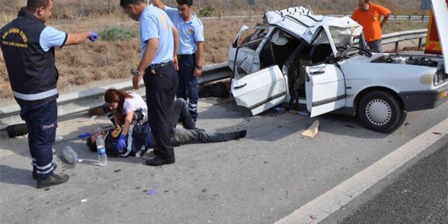 Düğünden Konya'ya dönen araç kaza yaptı!