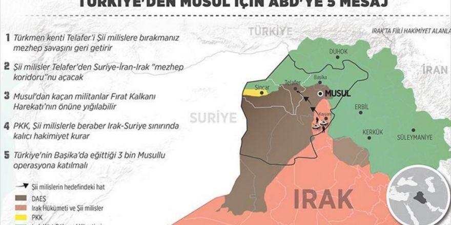 Türkiye'den Musul İçin Abd'ye 5 Mesaj