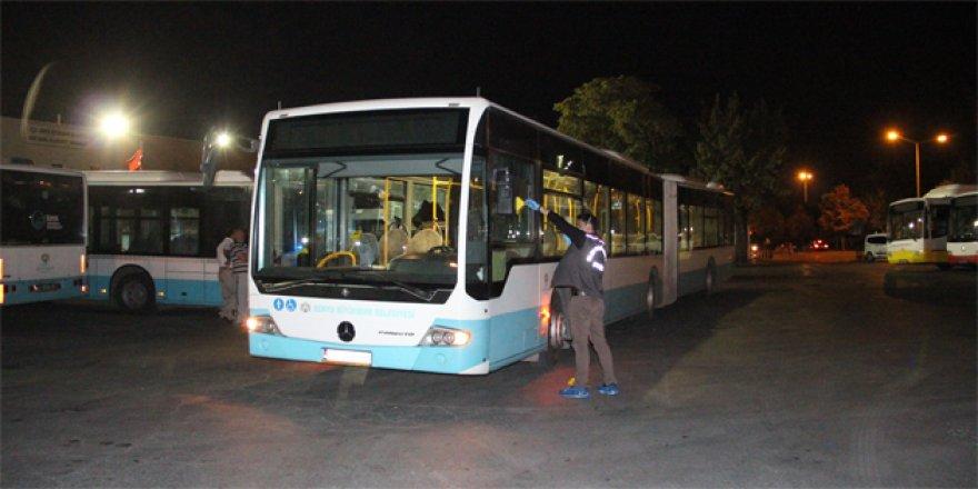 Konya'da belediye otobüs şoförü bıçaklandı