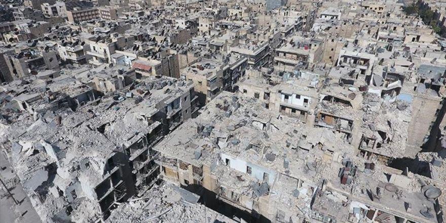 Aa Harabeye Dönen Halep'i Havadan Görüntüledi