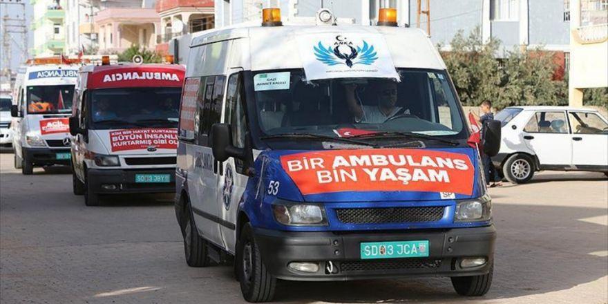 Suriye'ye Ulaştırılacak 24 Ambulans Reyhanlı'da