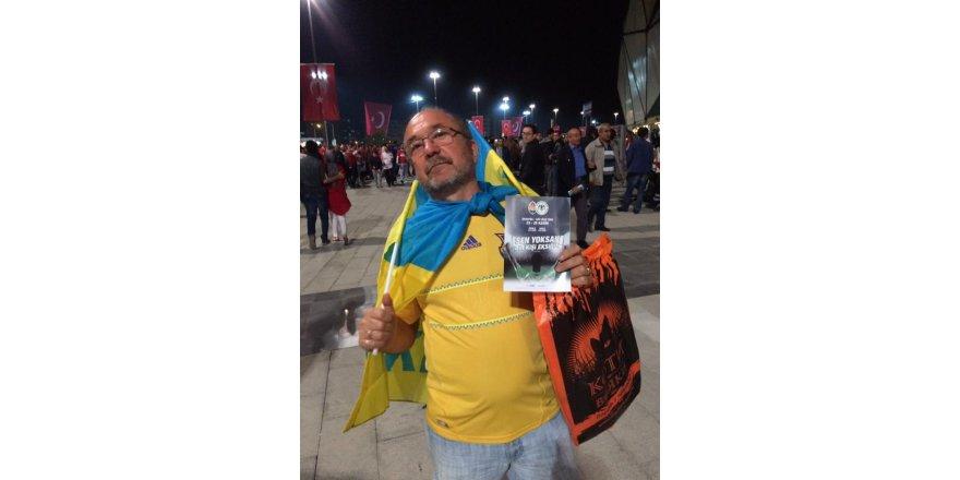 Ukraynalı taraftar Konyaspor maçında idi…