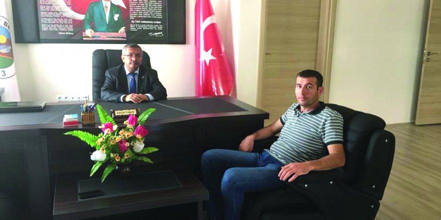 Muammer Özcan'dan  Başkan Yağız'a ziyaret