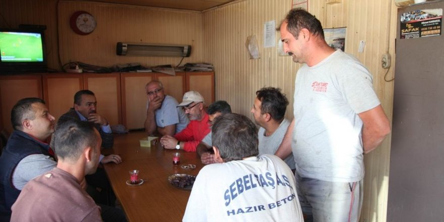 Başkan Tutal'dan beton santrali personeline ziyaret