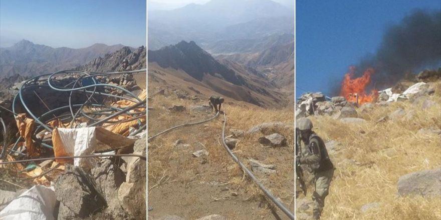 Pkk'nın İran Sınırındaki Kaçak Boru Hattı İmha Edildi