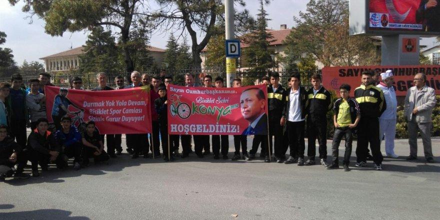 Milli bisikletçiler Erdoğan'ı bekliyor