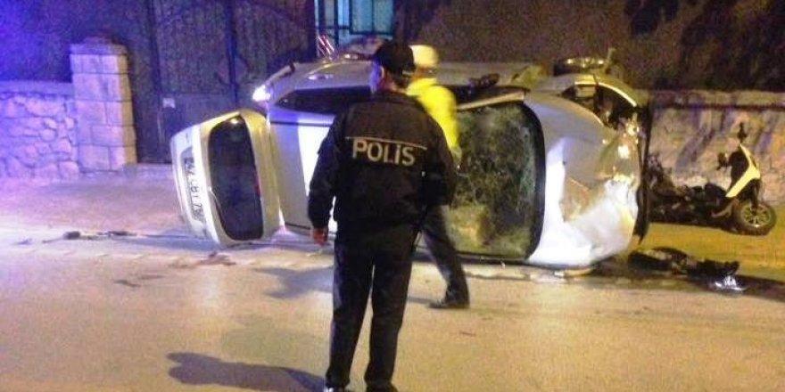 otomobil yayalara çarptı: 1 ölü, 5 yaralı