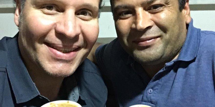 Koray Candan ve Ramazan Sorgun'un kahve keyfi