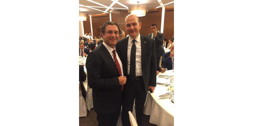 Fatih Özdemir Bakan Süleyman Soylu ile birlikte