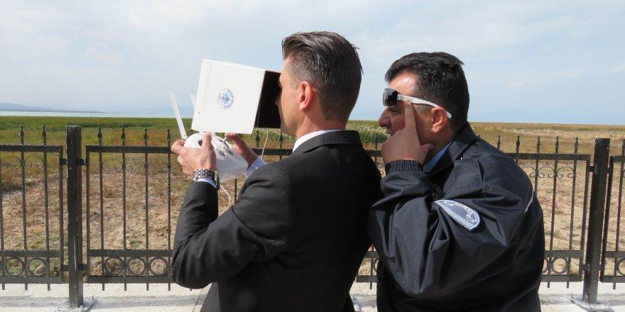 Beyşehir Gölü'nde elektro şokla avlanmaya droneli operasyon