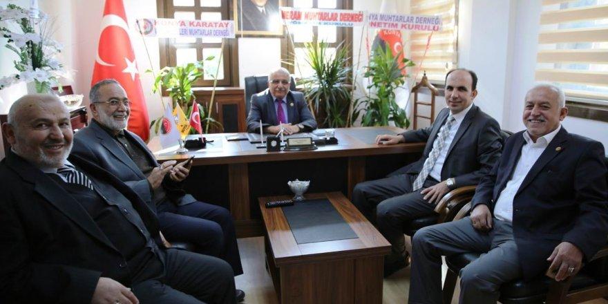 Başkan Altay, Muhtarlar Derneğini ziyaret etti
