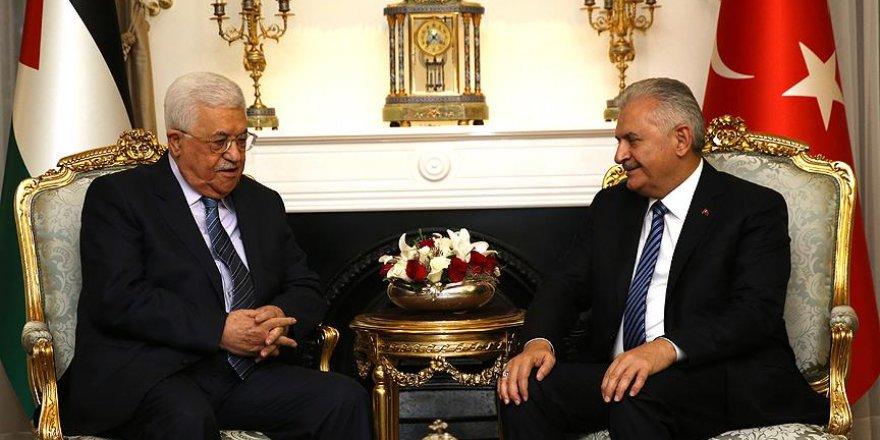 Yıldırım, Filistin Devlet Başkanı Abbas ile görüştü