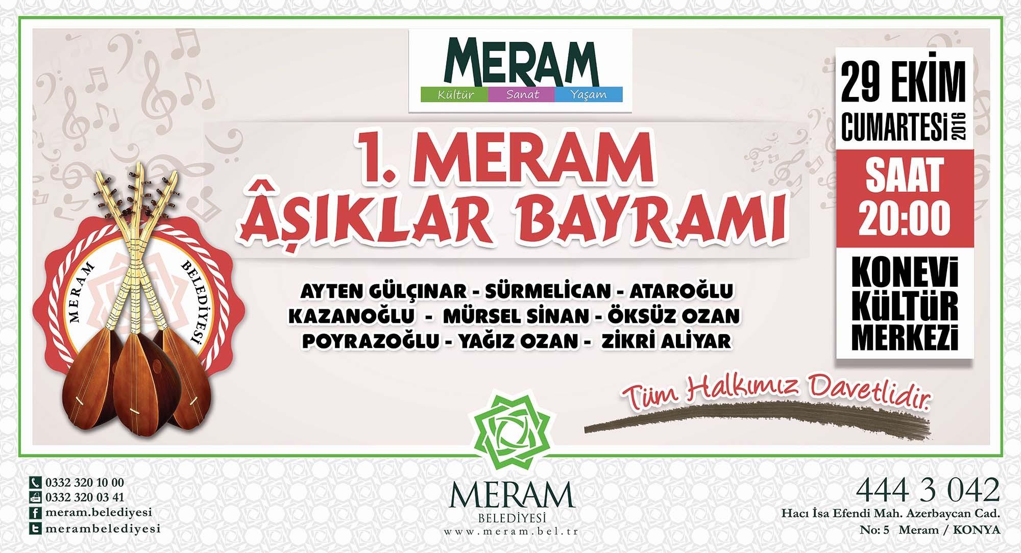 MERAM'DA AŞIKLAR BAYRAMI
