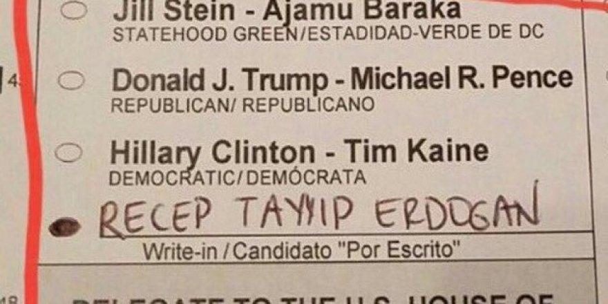 ABD seçimlerinden Erdoğan'a oy çıktı