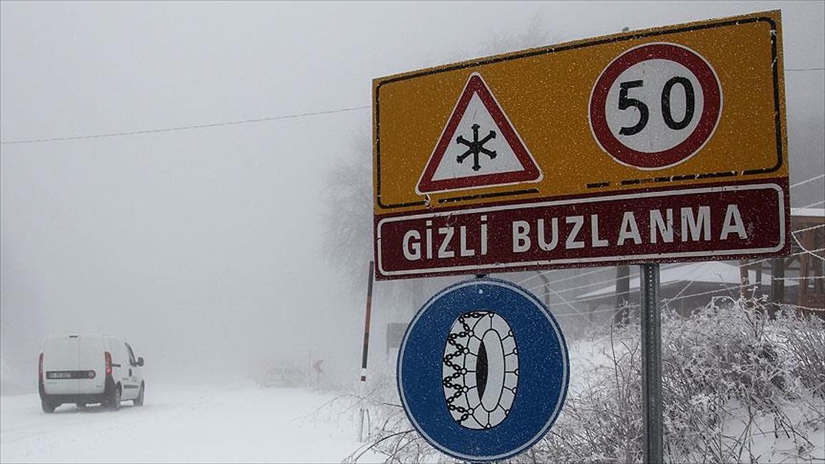 Konya ve çevresinde buzlanma ve sis uyarısı