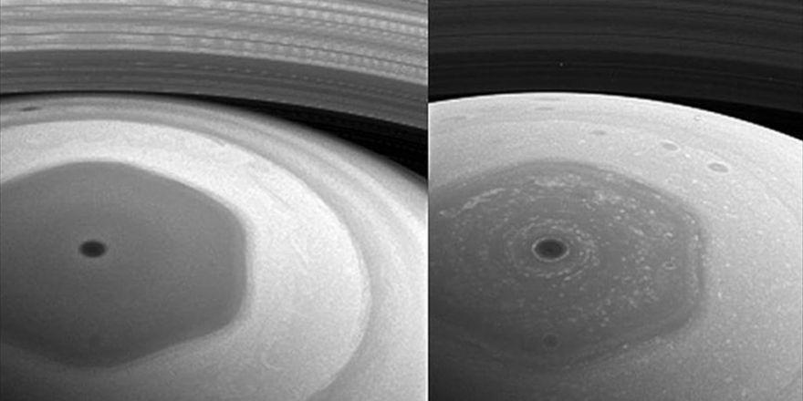 Cassini, Satürn'deki Yeni Yörüngesinden İlk Fotoğraflarını Yolladı