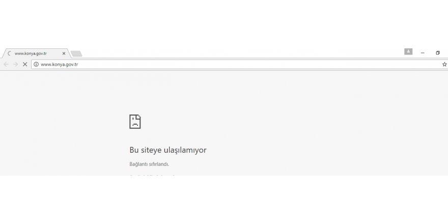 Valiliğin sitesi çöktü