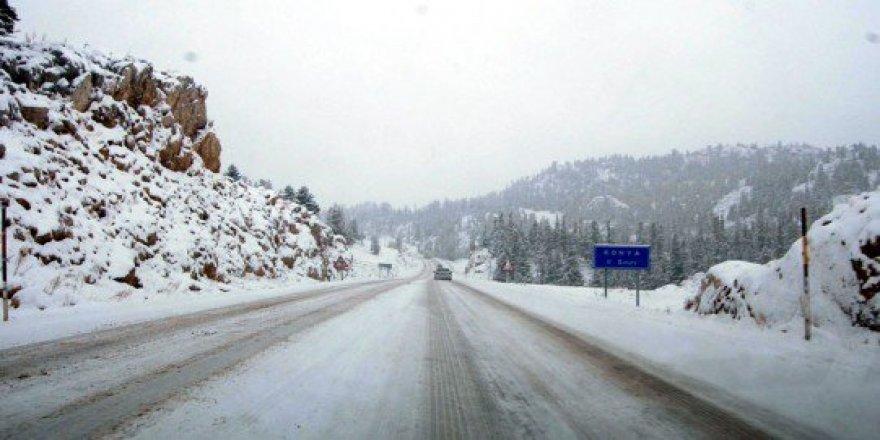 Konya'da kapalı olan yollar